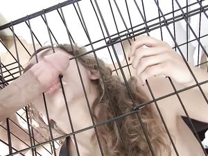 Teen Slave Caged And Fucked By Her Big Cock Master