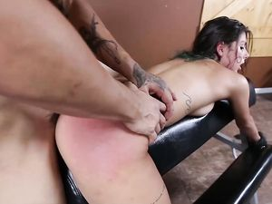 Thick Dick Master Roughly Uses His Latina Submissive