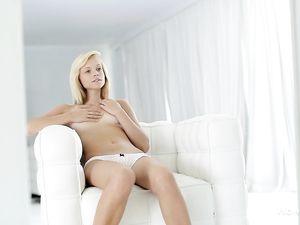 Watching Herself Masturbate Her Fresh Teenage Pussy