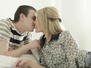 Gorgeous Blonde Girlfriend Gives A Great Blowjob