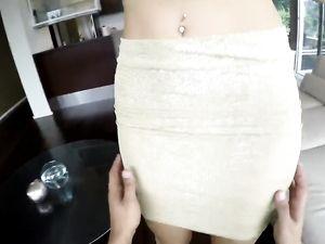 Leggy Hooker In A Miniskirt Strips And Fucks