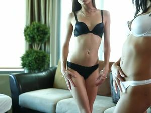 Skinny Bodies Are Hot On Teen Threesome Sluts