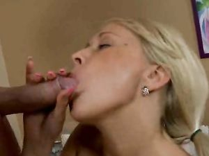 Blonde Teenager Sensually Sucks Dick In The Bedroom