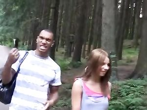 Slutty Euro Amateur Double Teamed In The Woods