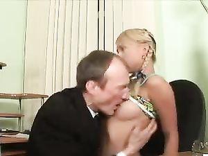 Sucking Her Sexy Teenage Titties Turns Her On