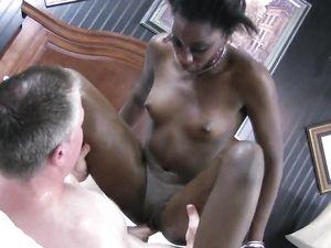 Interracial Cock Riding With A Nice Ebony Babe
