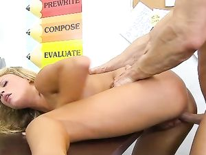 Blonde Teen Doggy Style Fucking With A Long Dong